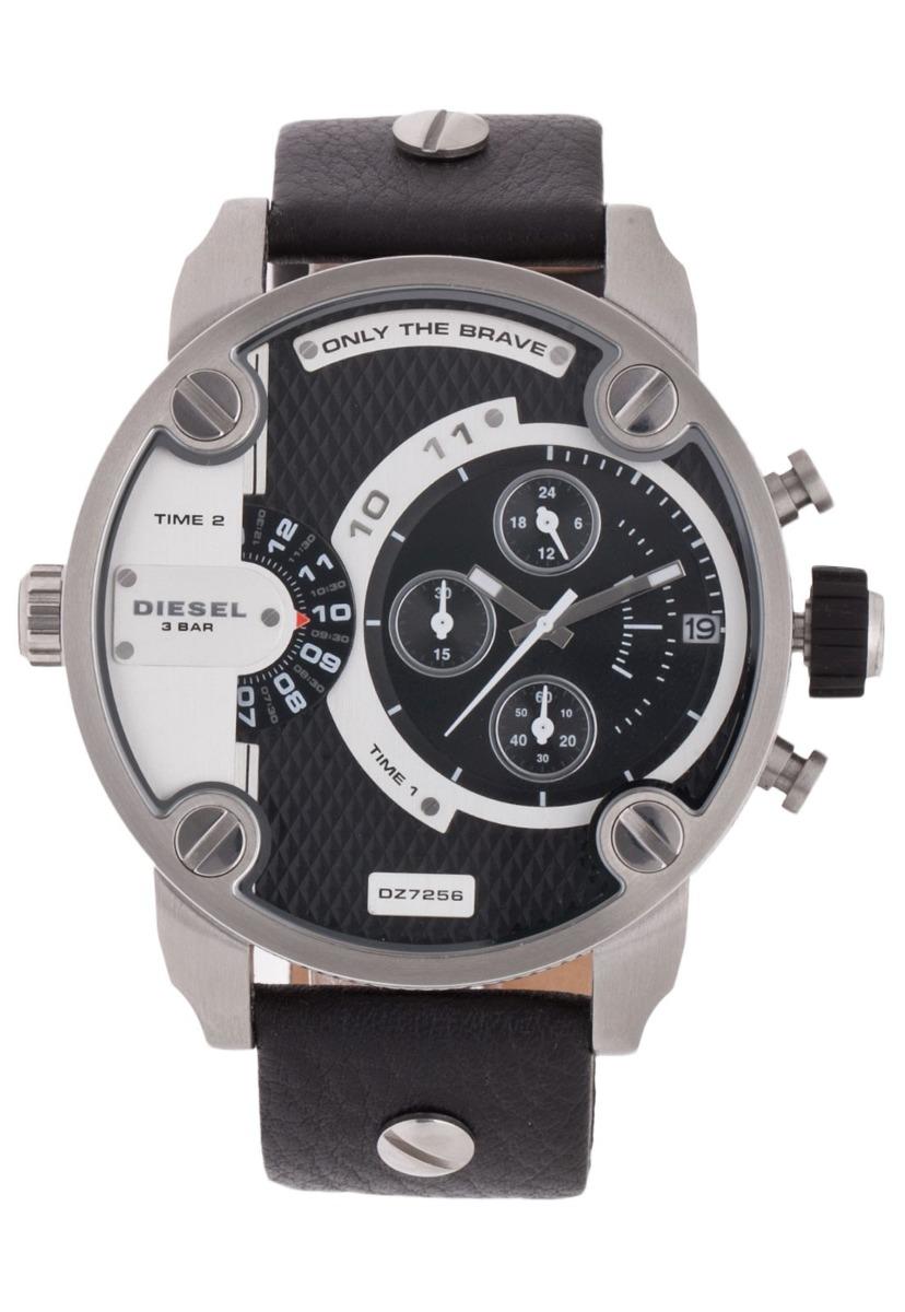 9be18fa4ab90 relógio diesel dz7256 little daddy cinza e preto com caixa. Carregando zoom.