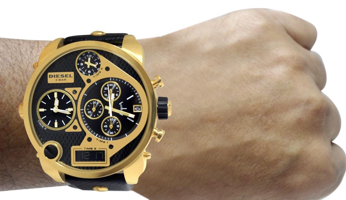 ac72296df6f relógio diesel dz7323 big daddy dourado 57 mm. Carregando zoom.