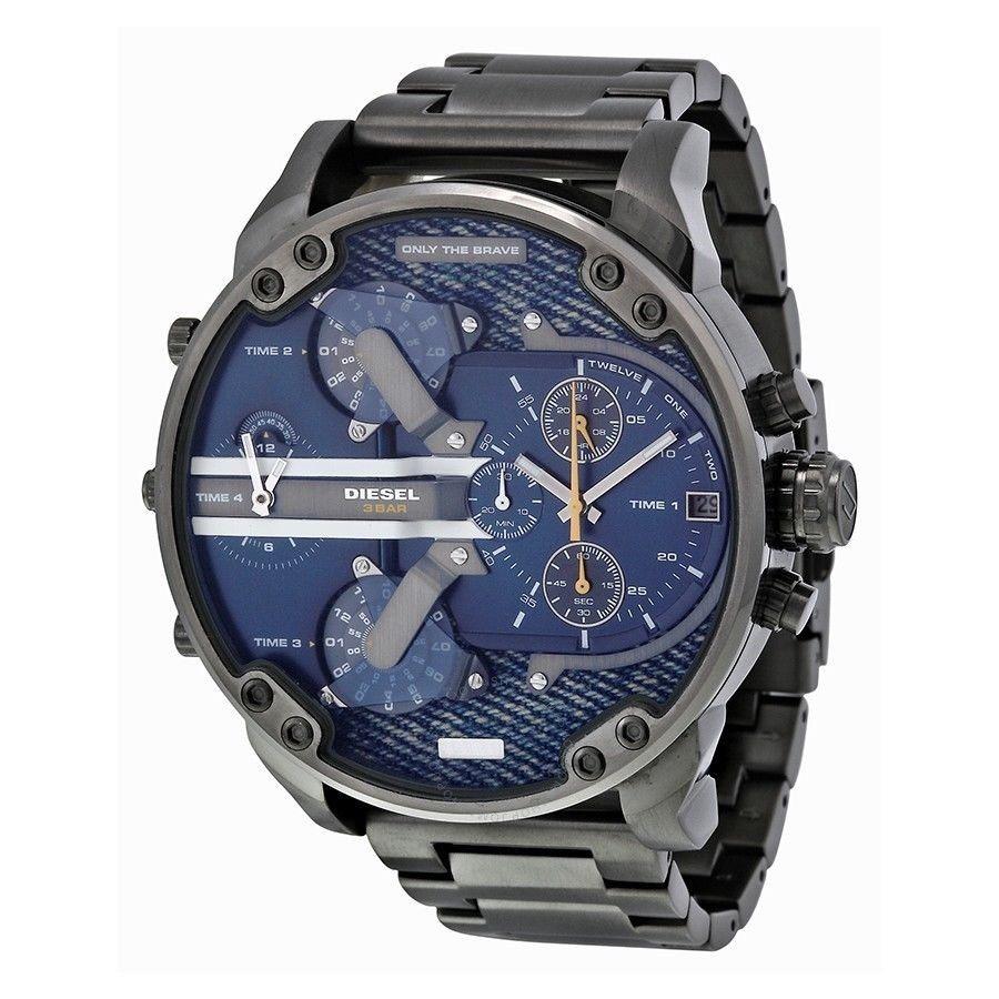 e1a15544572 relógio diesel dz7331 mr. daddy 2.0 original chumbo e azul. Carregando zoom.