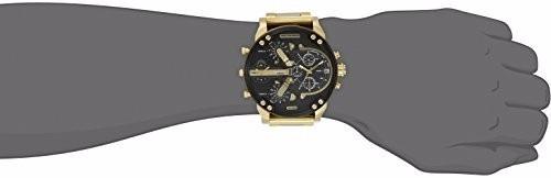 relógio diesel dz7333 dourado 57mm original garantia 3 anos