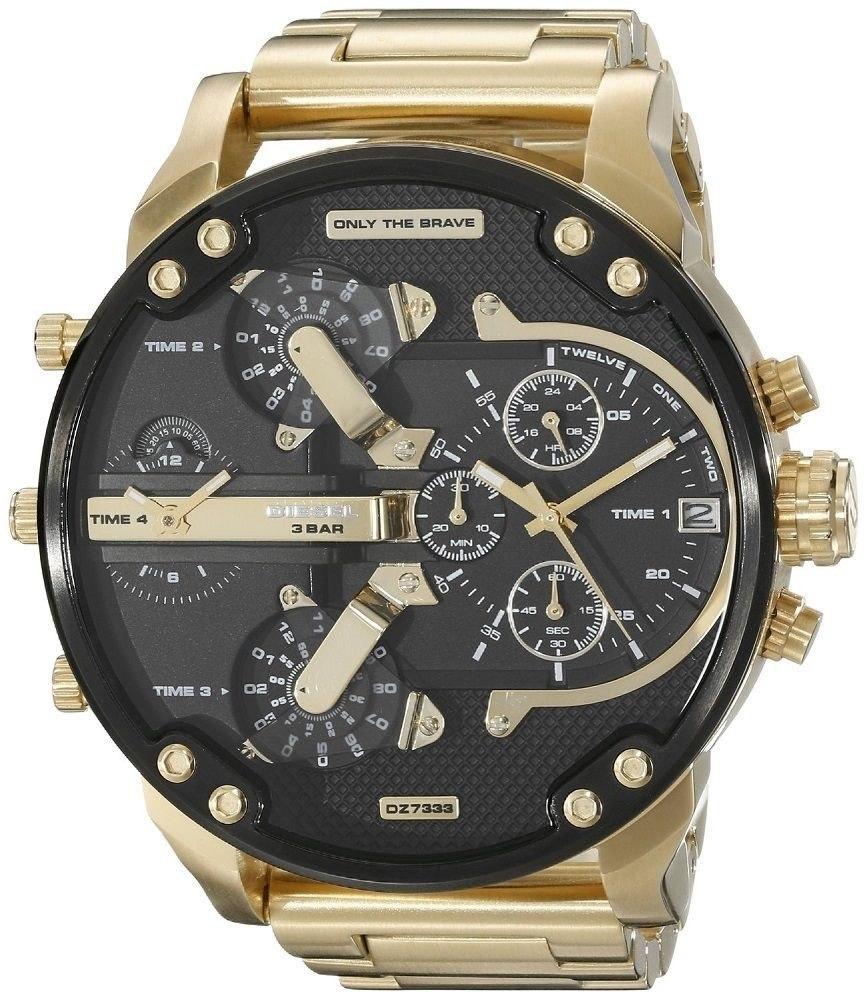 77dd2be94d1 relógio diesel dz7333 original dourado banhado a ouro 57mm. Carregando zoom.