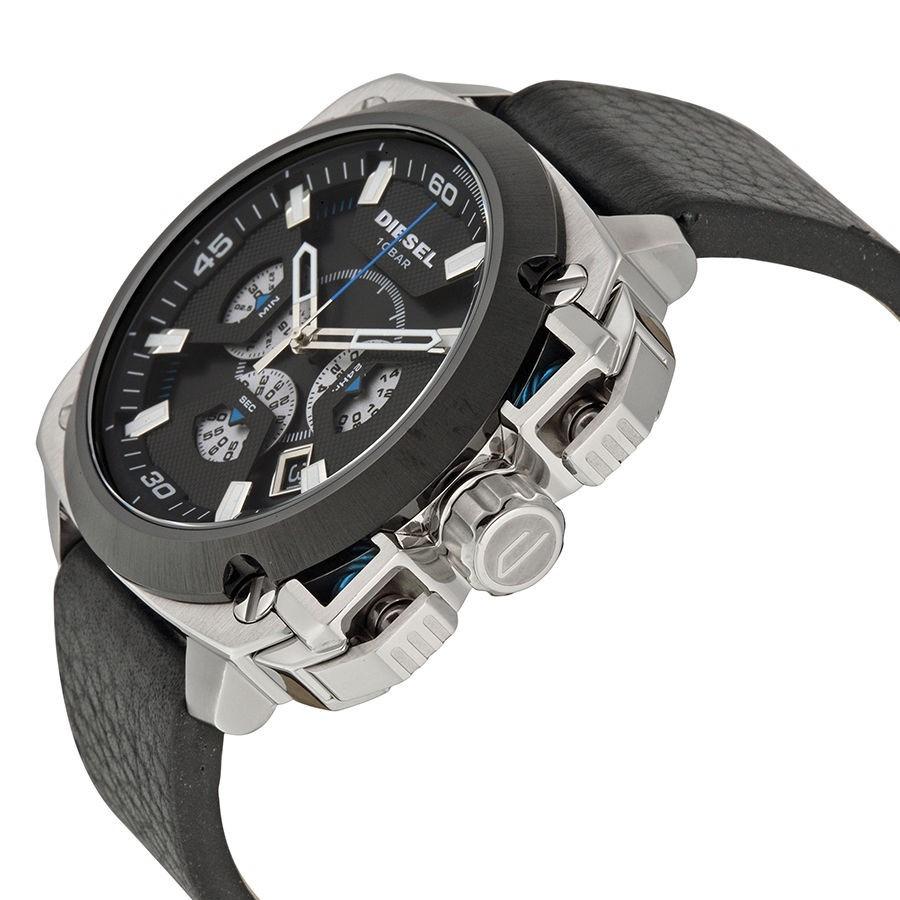 b1a861b54f4 relógio diesel dz7345 bamf aço pulseira couro original 56mm. Carregando zoom .
