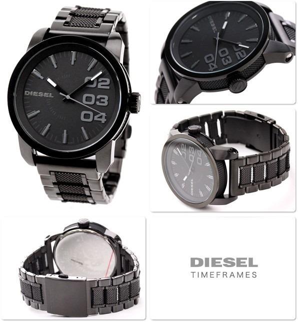 5abcace8d19c3 Relógio Diesel Esportivo Masculino Preto Modelo Dz 1371 - R  647