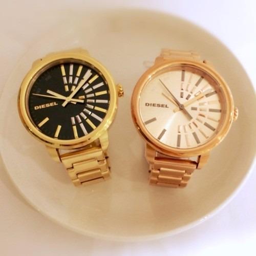 c62b052e0ea Relógio Diesel Feminino Original Dourado E Dour. Rosê Dz5417 - R  760