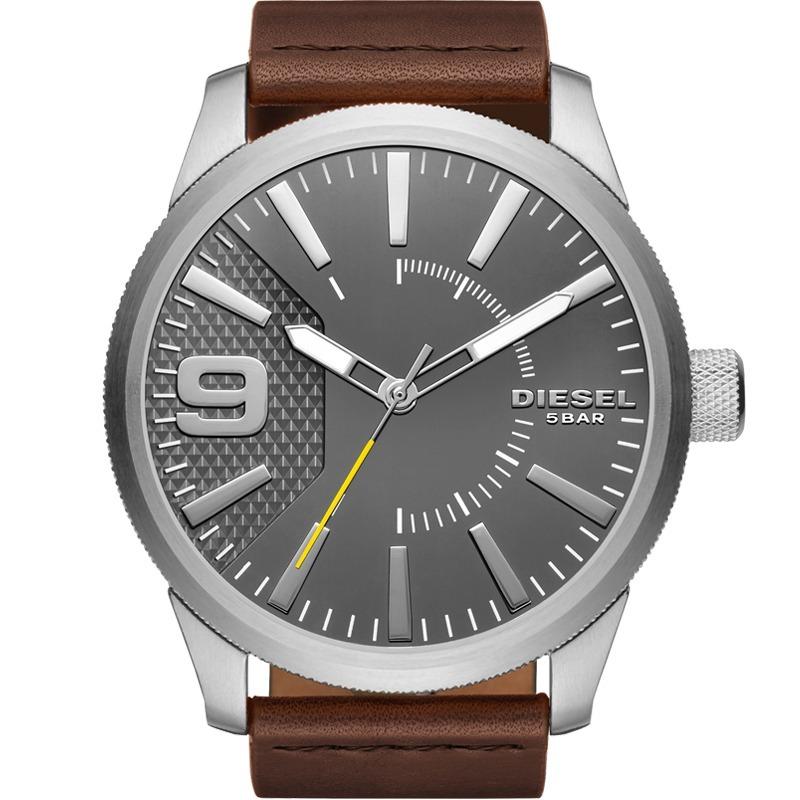 fdbff54650b relógio diesel masculino couro marrom original dz1802 0cn. Carregando zoom.