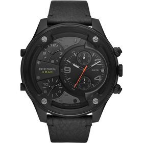 Relógio Diesel Masculino Cronógrafo Couro Preto Dz7425/0pn