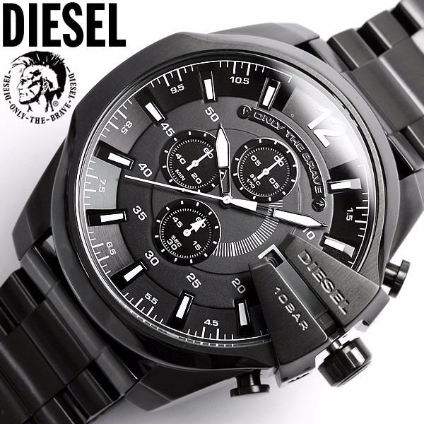 Relogio Diesel Masculino Dz4283 Preto Original 12xsemjuros - R  479,99 em  Mercado Livre 800a89ee93