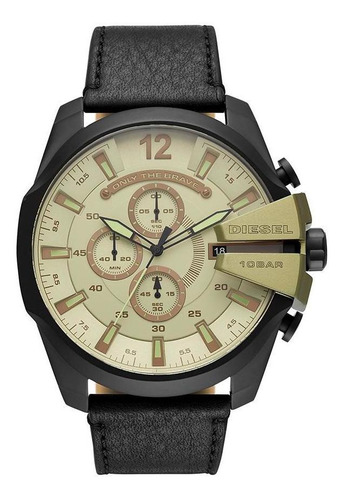 relógio diesel masculino mega chief preto dz4495/0pn