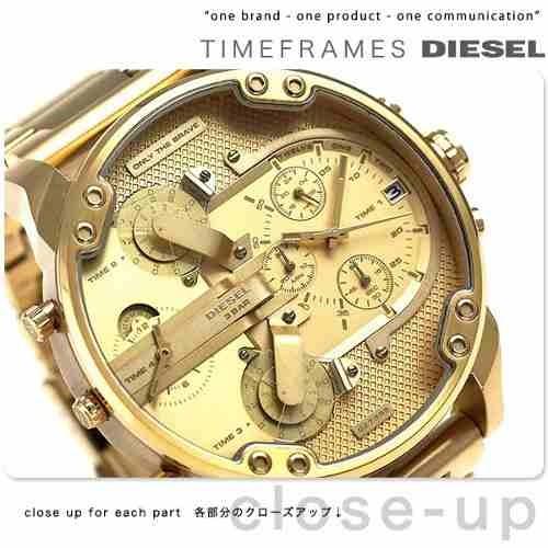 aae7c5c1d64 Relogio Diesel Masculino Mr Daddy Dz7399 Dourado Oferta - R  398