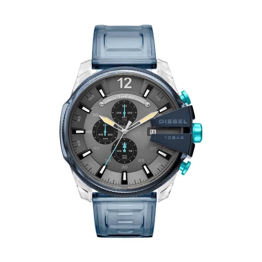 82abb3e1a10 relógio diesel masculino ref  dz4487 0an light blue. Carregando zoom.