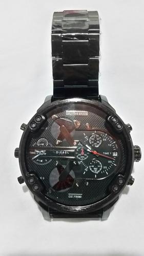 relógio diesel militar masculino metal preto dz