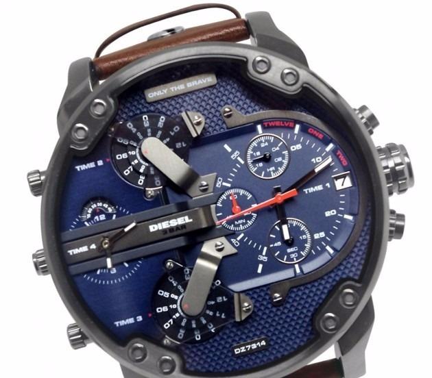 0cb19d57f3e Relógio Diesel Mr. Daddy Dz7314 Pulseira Couro C  Caixa Top - R  620 ...