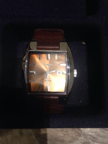 relógio diesel original pulseira marrom couro