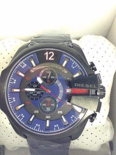 relógio diesel preto fundo misto original completo + sedex