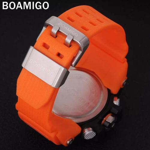 relógio digital analógico quartz pulseira de borracha à prov