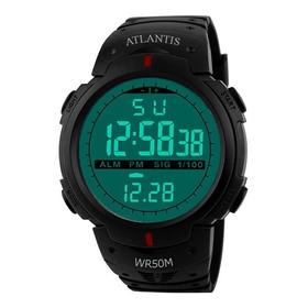 Relógio Digital Atlantis Sport Militar Prova D´água