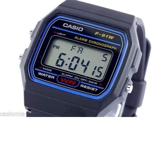 c550ca6740c6 Relógio Digital Casio F91w Led 30m Cronômetro Alarme - R  109