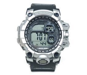 c5c376cb21cc Relógio Digital Casio G-shock Preto E Prata Replica Perfeita
