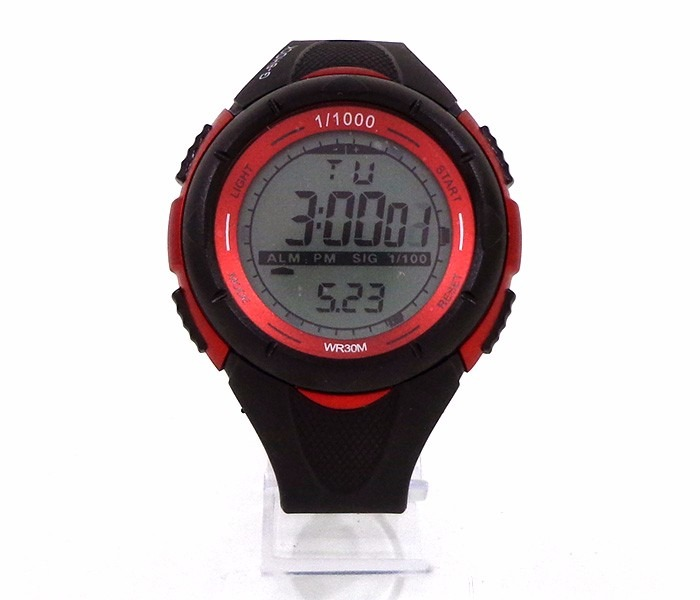 15ac4010115 Relógio Digital Casio G-shock Preto E Vermelho - R  119