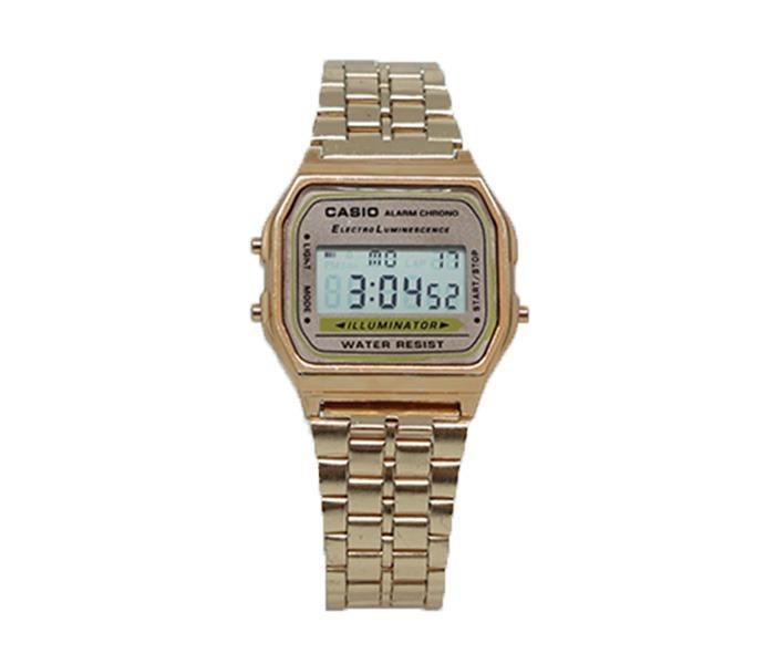 0fad8ebf50b Relógio Digital Casio Ouro Feminino - Mb - R  25