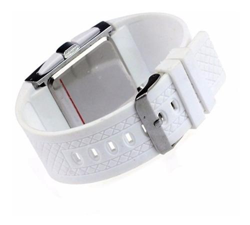 relógio digital de led - masculino ou feminino  - branco
