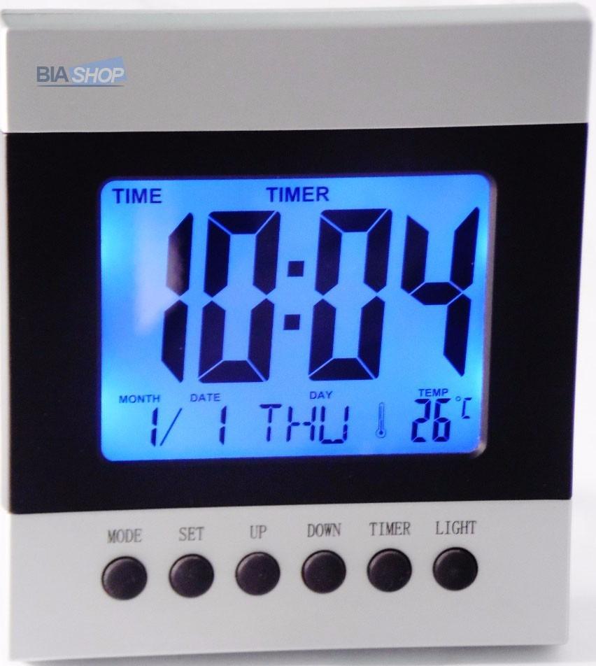 7c5f49ac6d9 Relógio Digital De Mesa Iluminação Alarme