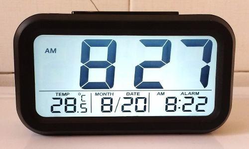 relógio digital de mesa led lcd ascende luz no escuro