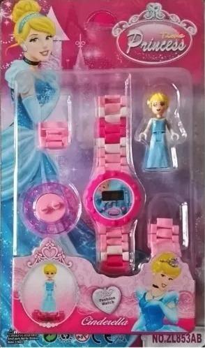 relógio digital de pulso infantil cinderela da disney + lego