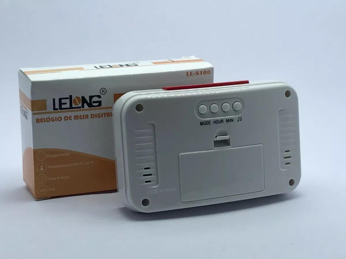 89bf98944cb Relógio Digital Despertador De Mesa Fala A Hora Em Voz - R  30