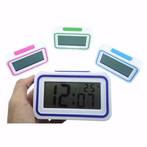 daba38b7f28 Relógio Digital Despertador Fala Hora Deficiente Visual - R  19