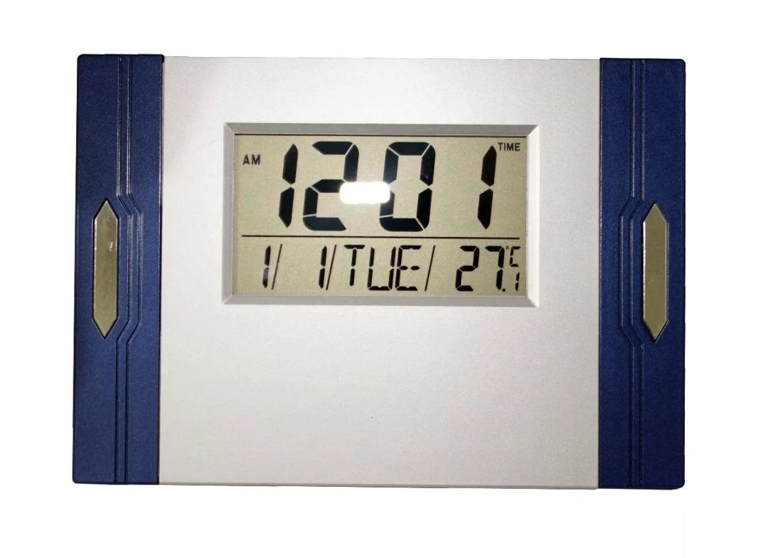 6a9c7d133a4 relógio digital e termômetro de parede ou mesa calendário. Carregando zoom.