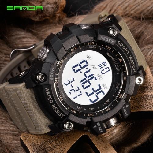 6afca49defa Relógio Digital Esportivo Sanda 2 Cores - R  120