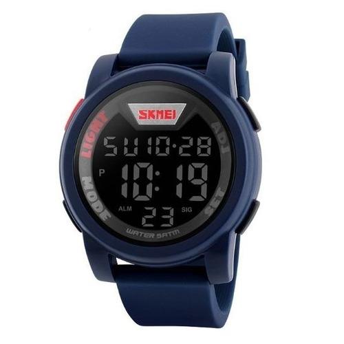 relógio digital esportivo skmei 1218 shock azul original