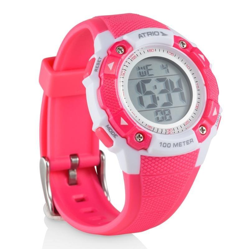 b72e9c0bda7 relógio digital feminino esportivo rosa prova d agua atrio. Carregando zoom.
