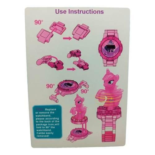 relógio digital infantil little pony + lego