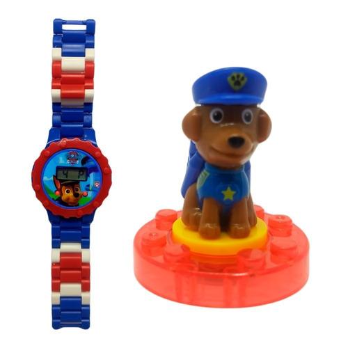 relógio digital infantil patrulha canina + lego chase