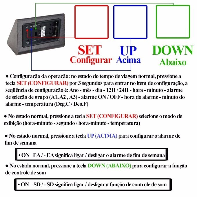 b3205b261ee Relogio Digital Led Madeira Alarme Termo Menor Preço - R  59