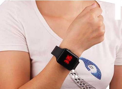 relógio digital led masculino feminino estilo apple watch