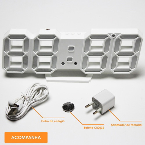 relógio digital led para quarto sala c/ despertador oferta