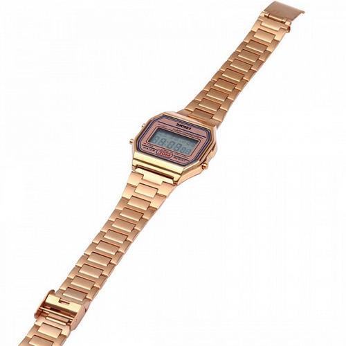 1d82be373 Relógio Digital Led Skmei 1123 Luxo Retro Lindo Prova D água - R  63 ...