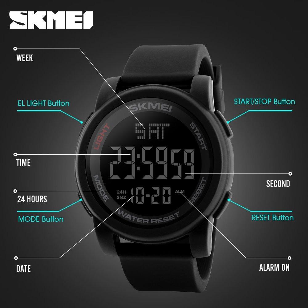 a4b336eb08a relógio digital led skmei modelo 1257 - original. Carregando zoom.