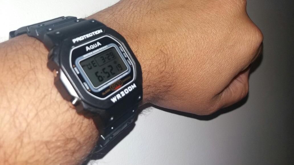 91e1ba4e82b relógio digital masculino barato aqua prova d agua ( top). Carregando zoom.