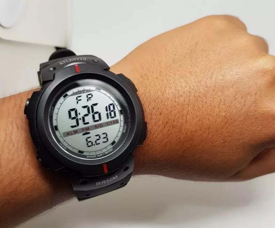 cd4842b980e relógio digital masculino esportivo prova d´água. Carregando zoom.