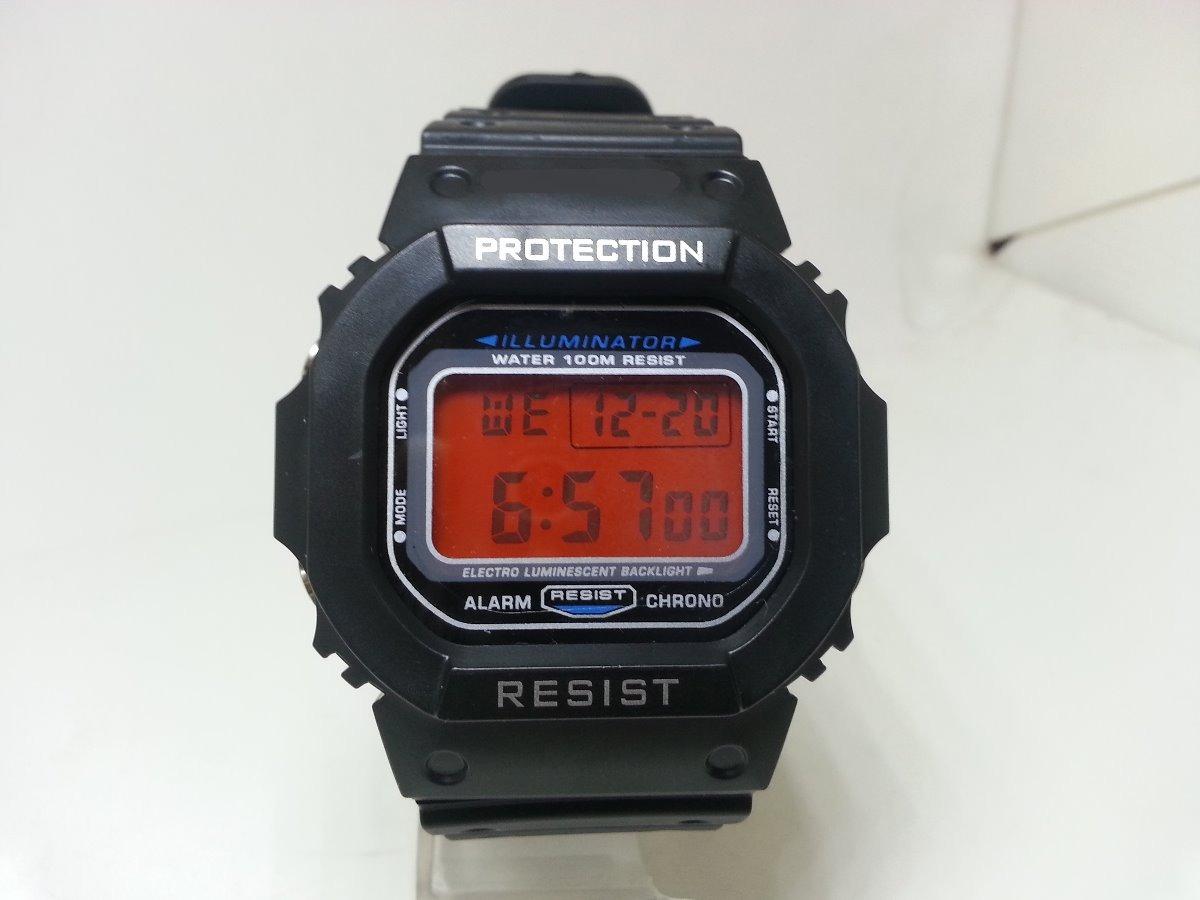 5360925ce6c relogio digital masculino grande visor vermelho alarme luz. Carregando zoom.