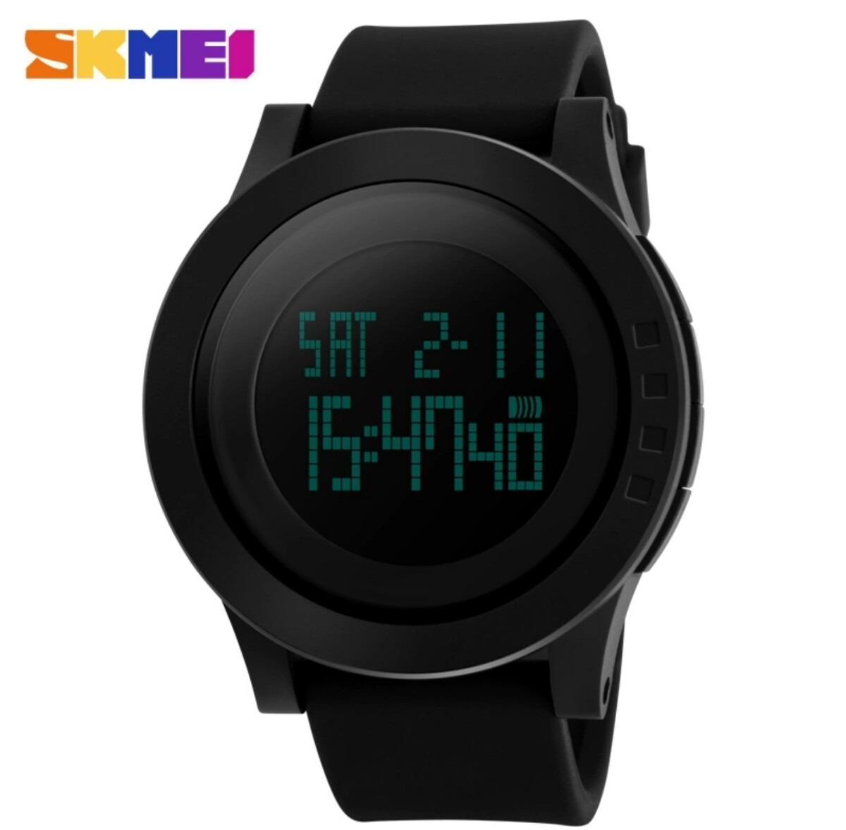14347d4ce5f relógio digital masculino redondo grande aprova d água preto. Carregando  zoom.