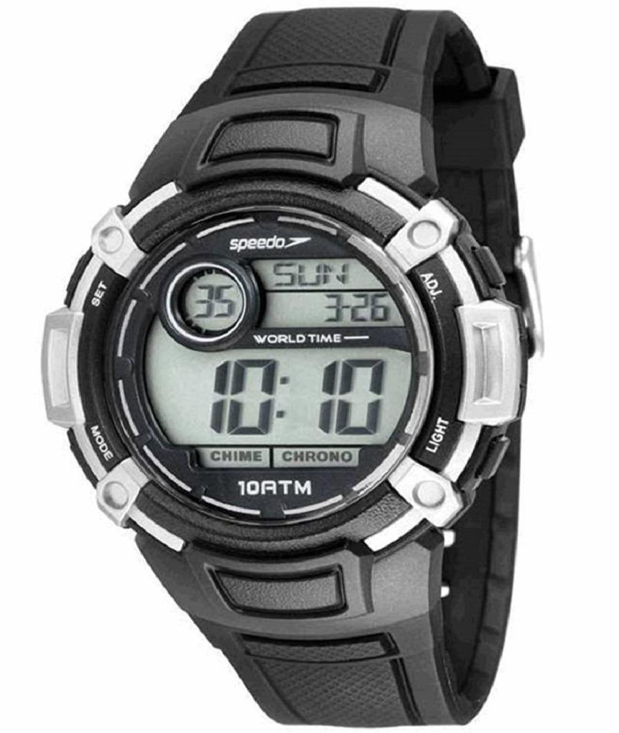 71d17c4551e relogio digital masculino sport speedo pulseira borracha. Carregando zoom.