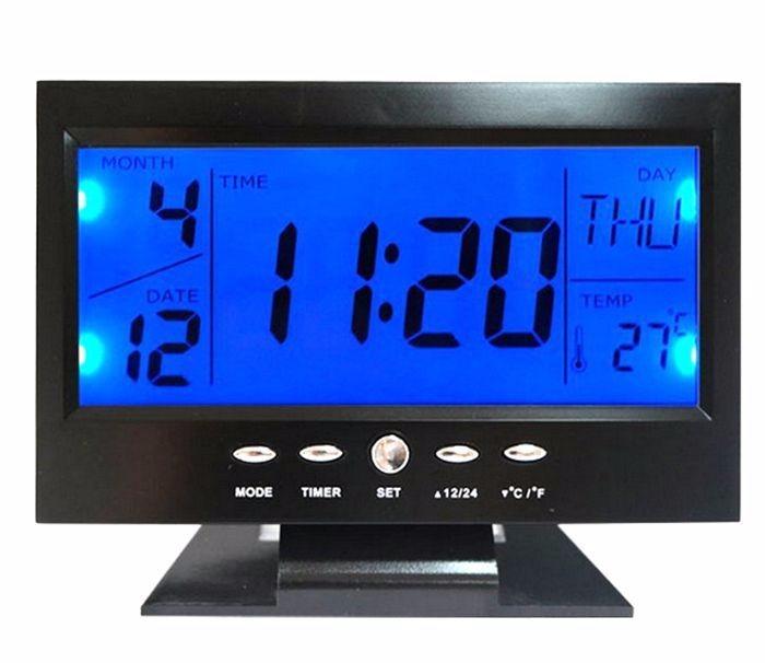 174a1803bcb Relógio Digital Mesa Iluminação Alarme Data Termometro Digit - R  37 ...