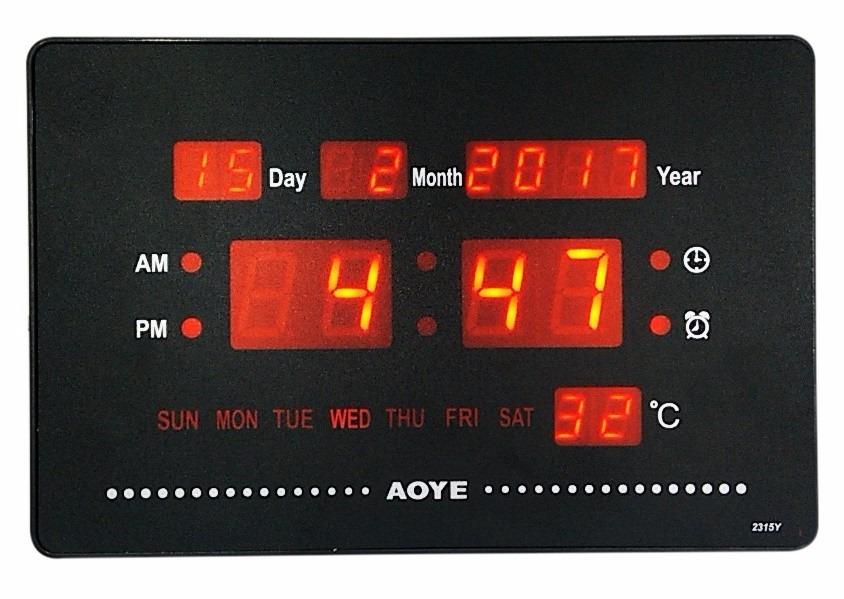 8574c65fc3c relógio digital mesa parede alarme led calendário termometro. Carregando  zoom.
