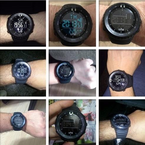 498d14965a8 Relógio Digital Militar Ots 50mm Esportivo Masculino Casual - R  120 ...