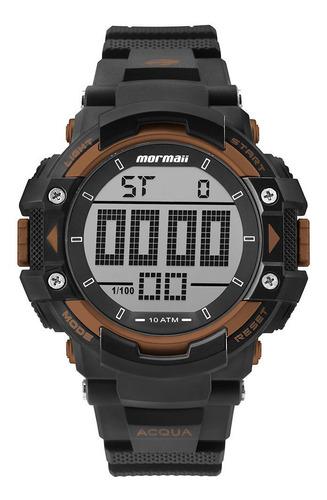 relógio digital mormaii action preto mo15190ab/8l